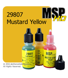Master Series Paint: HD Colors - 29807 Mustard Yellow (1/2 oz)