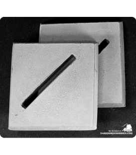 Reaper Miniatures: 40mm Square Diagonal Slotted Bases (Pack)