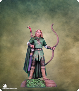 Visions in Fantasy: Male Elf Ranger with Bow (painted by Matt Verzani)