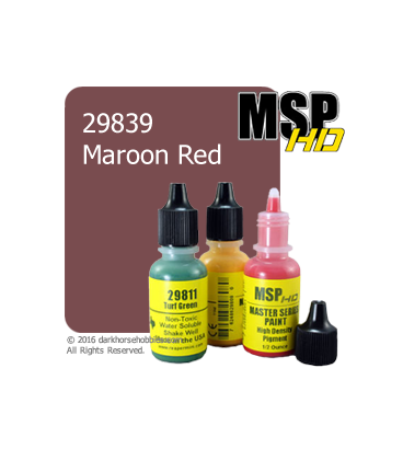 Master Series Paint: HD Colors - 29839 Maroon Red (1/2 oz)