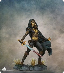 Visions in Fantasy: Female Assassin (painted by Jessica Rich)