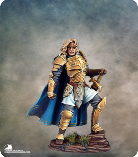 Visions in Fantasy: Male Warrior with Bastard Sword (painted by Marike Reimer)