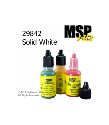 Master Series Paint: HD Colors - 29842 Solid White (1/2 oz)
