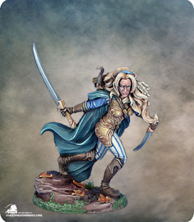 Visions in Fantasy: Female Wood Elf Warrior (painted by Matt Verzani)
