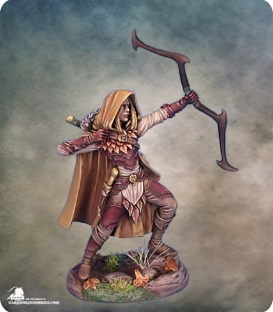 Visions in Fantasy: Male Wood Elf Archer (painted by Matt Verzani)