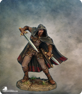 Visions in Fantasy: Male Dual Wield Assassin (painted by Matt Verzani)