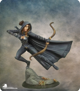 Visions in Fantasy: Female Assassin with Bow (painted by Jessica Rich)