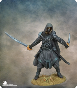 Visions in Fantasy: Hooded Assassin (painted by Jessica Rich)
