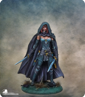 Visions in Fantasy: Female Assassin - Dual Wield (painted by Jessica Rich)