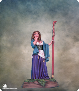 Elmore Masterworks: Female Mage with Staff (painted by Matt Verzani)