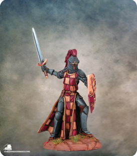 Elmore Masterworks: Male Knight with Sword and Shield (painted by Matt Verzani)