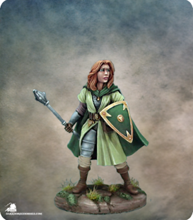 Easley Masterworks: Female Cleric (painted by Matt Verzani)