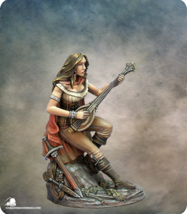 Easley Masterworks: Female Bard with Lute (painted by Jennifer Haley)