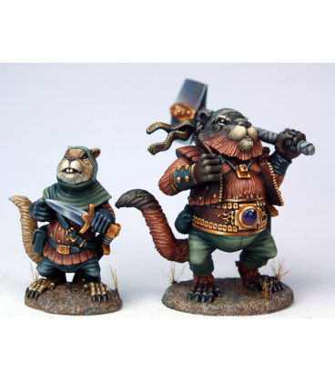 Critter Kingdoms: Chet - Field Squirrel Rogue and Companion (painted by Marike Reimer)
