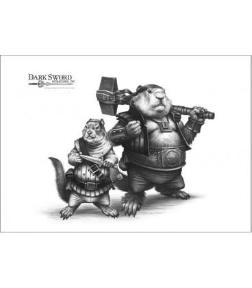 Critter Kingdoms: Chet - Field Squirrel Rogue (artwork)