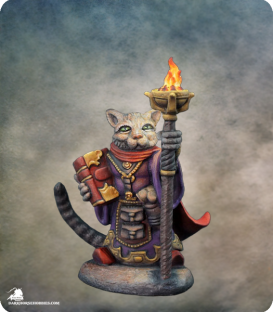 Critter Kingdoms: Archer - Grumpy Cat Warlock (painted by Rhonda Bender)