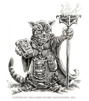 Critter Kingdoms: Archer - Grumpy Cat Warlock (artwork)