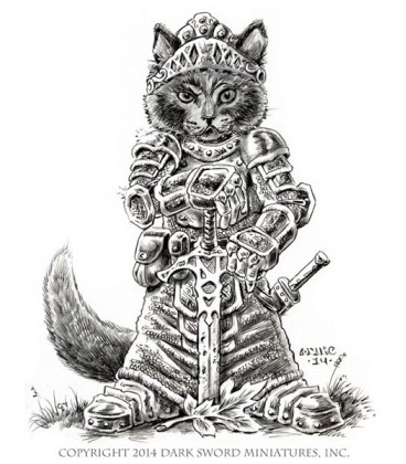 Critter Kingdoms: Nom - Cat Paladin (artwork)