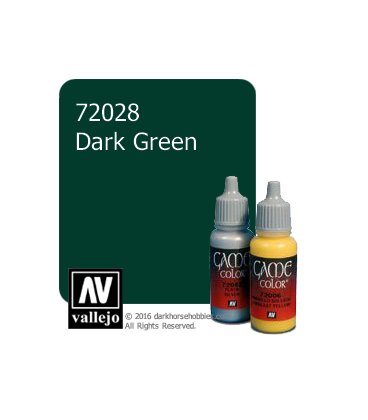 Vallejo Game Color: Acrylic Paint - Dark Green (17ml)