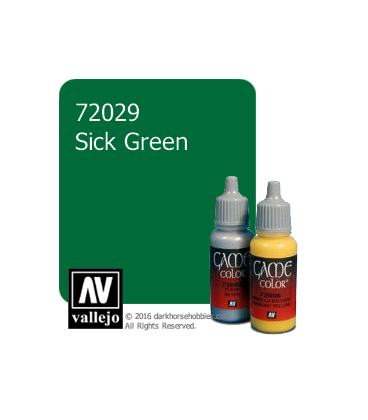 Vallejo Game Color: Acrylic Paint - Sick Green (17ml)
