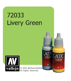 Vallejo Game Color: Acrylic Paint - Livery Green (17ml)