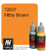 Vallejo Game Color: Acrylic Paint - Filthy Brown (17ml)