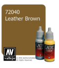 Vallejo Game Color: Acrylic Paint - Leather Brown (17ml)