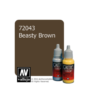 Vallejo Game Color: Acrylic Paint - Beasty Brown (17ml)