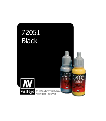Vallejo Game Color: Acrylic Paint - Black (17ml)