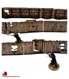 Dead Man's Hand: (Add-on) Yard Panel Fencing with Gates