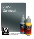Vallejo Game Color: Acrylic Paint - Gunmetal (17ml)