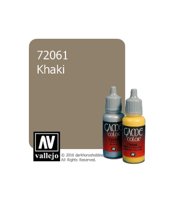 Vallejo Game Color: Acrylic Paint -Khaki (17ml)