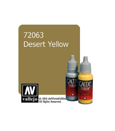Vallejo Game Color: Acrylic Paint -Desert Yellow (17ml)