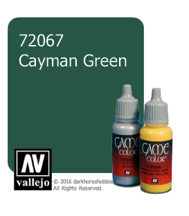 Vallejo Game Color: Acrylic Paint -Caymen Green (17ml)