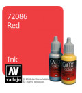 Vallejo Game Color: Acrylic Paint - Red Ink (17ml)