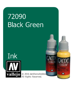 Vallejo Game Color: Acrylic Paint - Blackgreen Ink (17ml)
