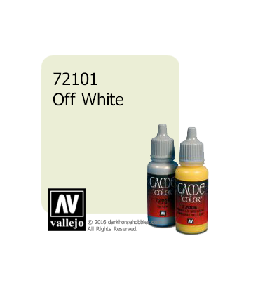 Vallejo Game Color: Acrylic Paint - Off White (17ml)