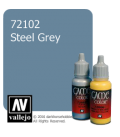 Vallejo Game Color: Acrylic Paint - Steel Grey (17ml)