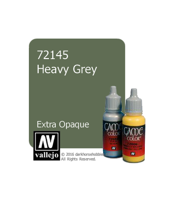 Vallejo Game Color: Acrylic Paint - Heavy Grey (17ml)