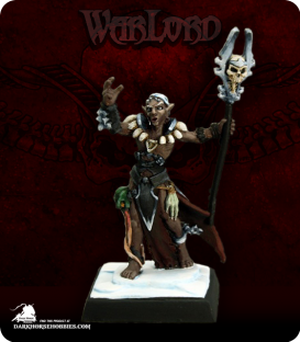 Warlord: Darkreach - Nanuranidd, Dark Elf Sorcerer (painted by Martin Jones)