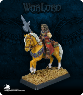 Warlord: Crusaders - Isarah, Mounted Cleric (painted by John Bonnot)