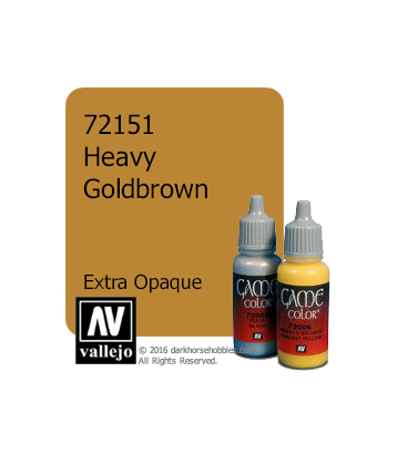 Vallejo Game Color: Acrylic Paint - Heavy Goldbrown (17ml)