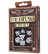 White-black Steampunk dice set