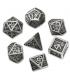 Dwarven Metal-Black Polyhedral Dice Set (7)