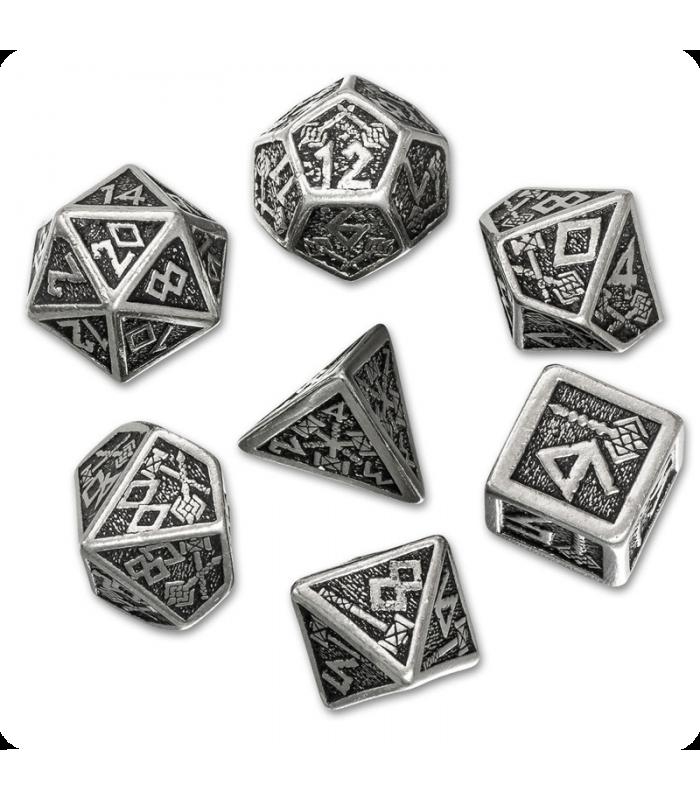 Dwarven Metal-Black Polyhedral Dice Set (7) - Dark Horse ...