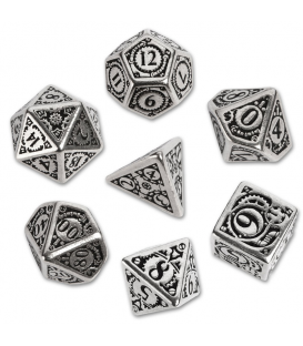 Metal-black Steampunk Dice Set