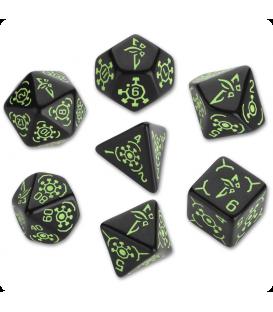 Ingress Polyhedral Dice Set: Enlightened