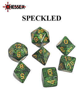 Speckled Polyhedral Dice Sets