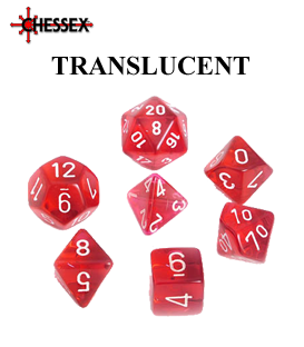 Translucent Polyhedral Dice Sets