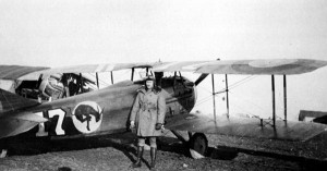 SPAD XIII of the 95th Aero Squadron of US Army Air Service, with the 'Kicking Mule' insignia.
